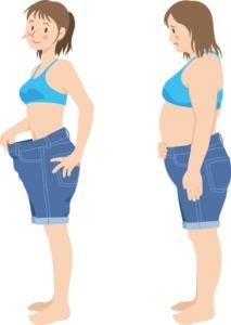 ダイエット女性の例え