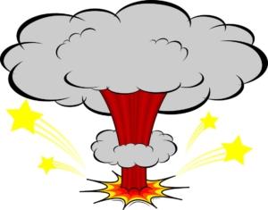マグマ噴火の怒りイメージ画像
